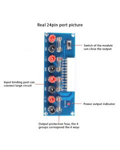 Monday Kids XH-M229 Desktop PC Power ATX Transfer Board Supply Power Module Precise 24Pin Alimentation PC Ordinateur ATX Transfer Board