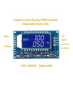 Monday Kids  Signal Generator LCD Display Module Output PWM Pulse Frequency Duty Cycle Adjustable Display Modules 1Hz-150Khz 3.3V-30V TTL