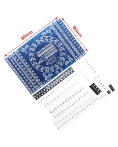 Monday Kids DIY Kit SMD Rotating Flashing LED Components Soldering Practice Board Skill Electronic Circuit Training Suite Electronic DIY Kit