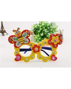 Monday Kids 4pcs/lot Cartoon Eva Foam Sticker Glasses DIY Craft Kit Creative Kindergarten Educational Toys for Kids Birthday Party