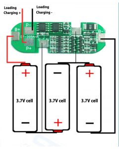 Monday Kids 3S 6A Polymer Lithium Battery Charger Protection Board Li-ion Charging Protect Module For 3pcs 18650 Lithium Battery