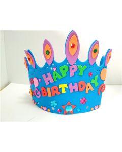 Monday Kids 12 pcs/lot Kids DIY EVA Birthday Crown Hat Handmade Art and Craft Children Princess Party Supplies Educational Toy