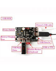 Monday Kids 5V 2A Power Supply Board Module USB HUB Lithium Battery Module for Raspberry Pi 3 Zero/3B/2B/B