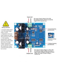 Monday Kids XH-M403 DC-DC Digital Voltage Regulator Buck Step Down Power Supply Module 5-36V to 1.3-32V Over Temperature Protection
