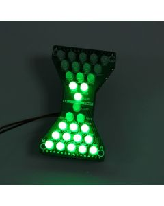Monday Kids DIY Kit Green LED Electronic Hourglass DIY DC 3.3V-5V Funny Electric Production Kits with LED Double Layer PCB Board for Skills
