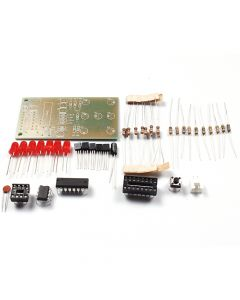 Monday Kids Electronic Dice NE555 CD4017 DIY Kit 5mm Red LEDs 4.5-5V ICSK057A Electronic Fun DIY Kit