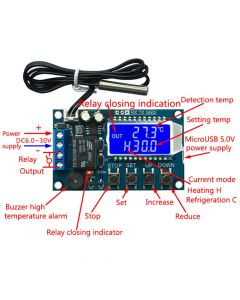 Monday Kids Digital Thermostat Cooling Heating Temperature Controller LCD Display Digital Temperature Controller Module