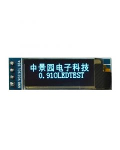 "Monday Kids 0.91 inch 128x32 I2C IIC Serial Blue OLED LCD Display Module 0.91"" 12832 SSD1306 LCD Screen for Arduino"