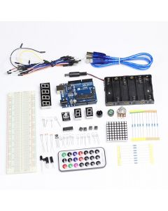 Monday Kids For Arduino Starter Kits Basis Learning Parts for Funduino Compatible for Arduino UNO MB-102 Eelectronic DIY Suite