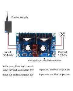 Monday Kids XH-M407 XL4016E1 DC DC Step Down Buck Converter Voltage Regulator 4V-40V to 1.25V-36V DC DC Voltage Converter Power Supply