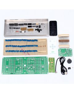 Monday Kids ECL-132 DIY Kit Blue Clock Screen Display Kits Electronic Suite With Patch Remote Control 132pcs 5mm LEDs Display Clock