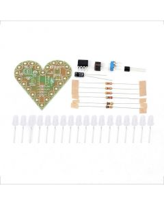 Monday Kids Blue DIY Heart Shape Breathing Lamp Kit DC4V-6V DIY Electronic Production DIY Kits Heart Shaped Lamp Suite Electronic DIY Kit