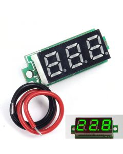 "Monday Kids 0.28"" Green Digital Thermometer Temperature Meter Detector Tester Module With NTC Metal Waterproof Sensor Probe 0.28 Inch"