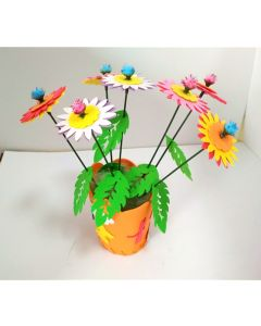 Monday Kids 5pcs/lot EVA Foam Craft DIY Flower Pot Kits Children Girls 3-8 years Kindergarten Creative Educational Toy for Girls