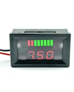 Monday Kids 2pcs 12V ACID Lead Battery Charge Level Indicator Red Digit Lithium Battery Capacity Meter LED Tester Voltmeter Dual Display