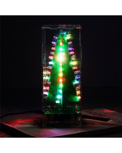 Monday Kids DIY Kit RGB Flash LED Circuit Kit Colorful 3D Christmas Trees Kit MP3 Music Box with Shell Christmas Gift Electronic Fun Suite